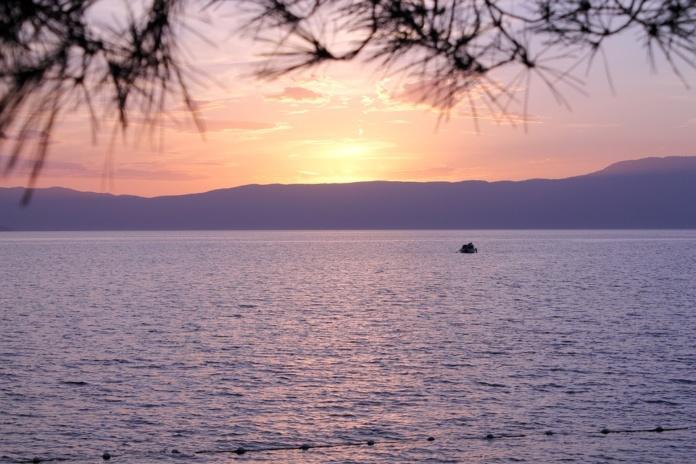 Хорватия, море, закат