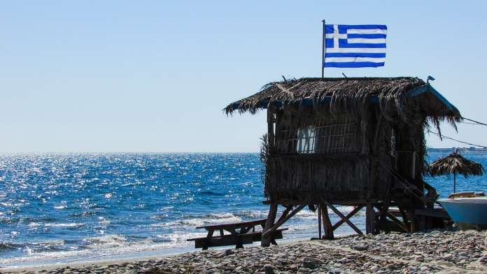 Греция пляж
