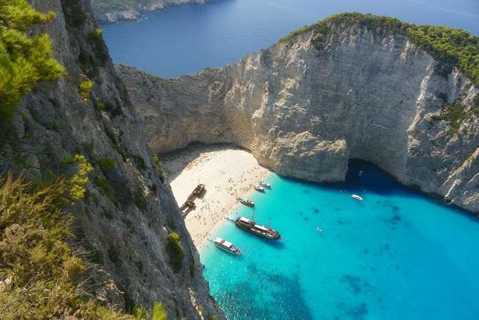 Закинтос, Греция, красивая бухта