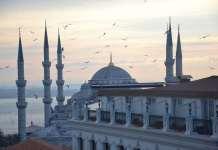Стамбул вид на мечеть