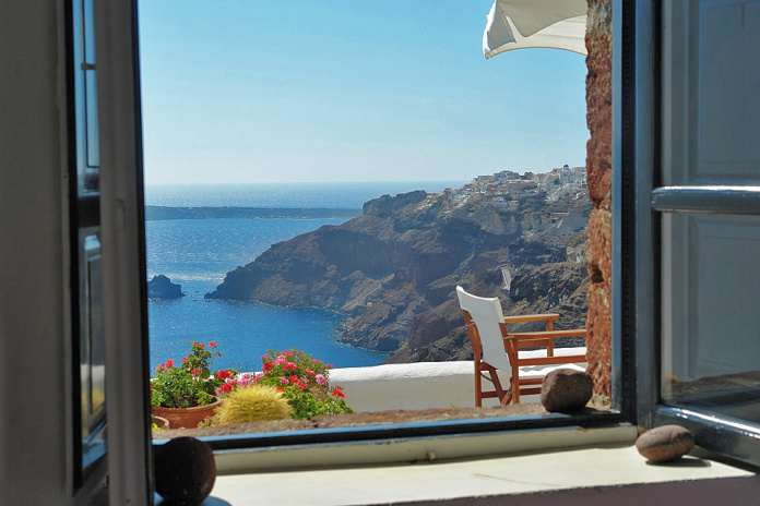 Греция, вид из окна