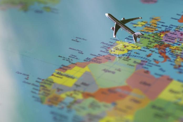 Самолет в Европу, карта