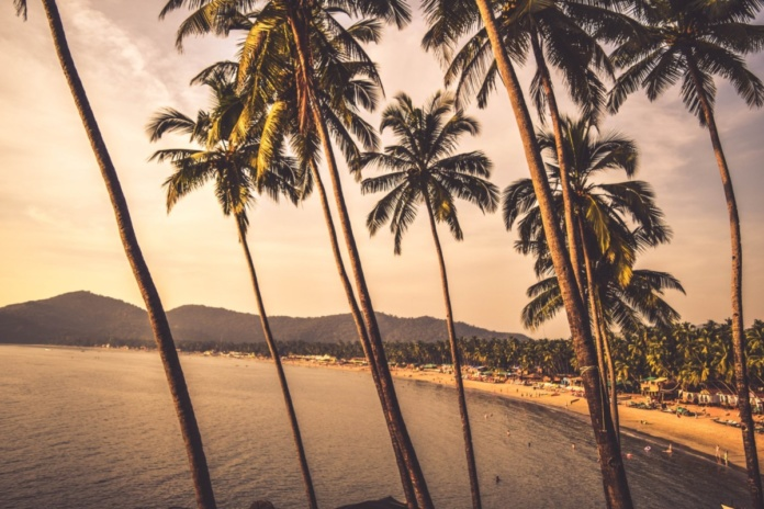 пляж гоа, закат