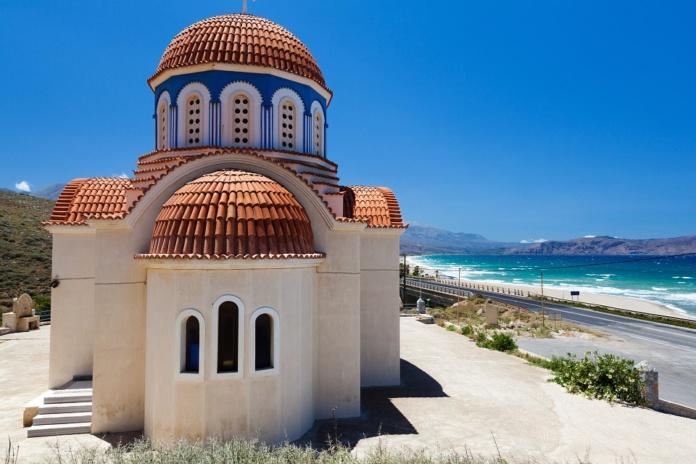 Крит церковь у моря