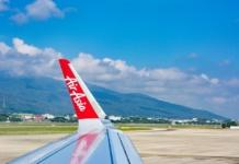 аир азия крыло самолета