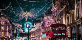 лондон, рождетсво, улицы огни