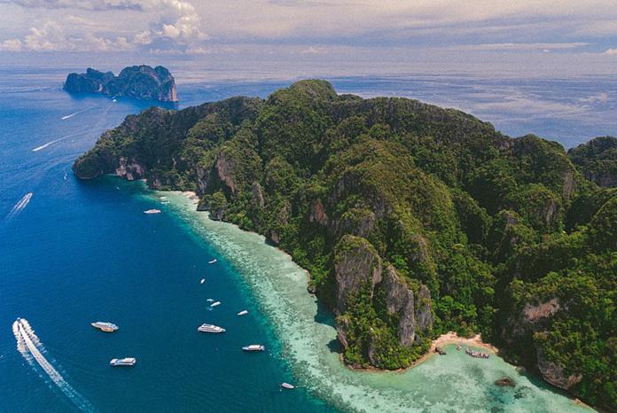 острова Пхи Пхи с высоты