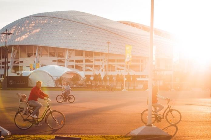 Сочи, олимпийский парк, солнечный день