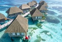 Мальдивы, фото с высоты