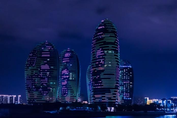 Хайнань, остров Феникс, небоскребы
