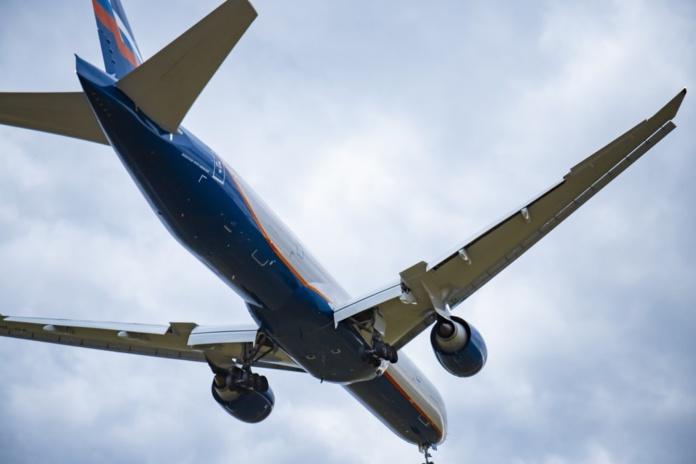 Самолет в небе, Аэрофлот