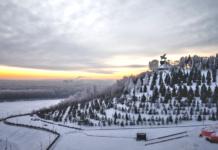 Уфа, зима, памятник